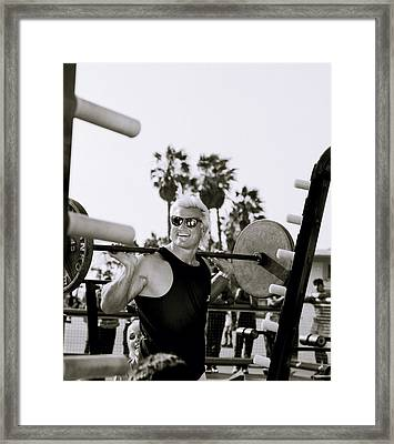 Tom Platz In Los Angeles Framed Print
