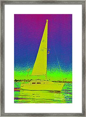 Tom Ray's Sailboat Framed Print