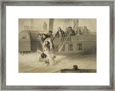 Tom Saves Evangeline, Plate 4 Framed Print
