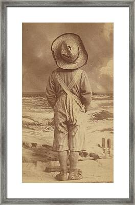 Tom Sawyer At The Beach Framed Print
