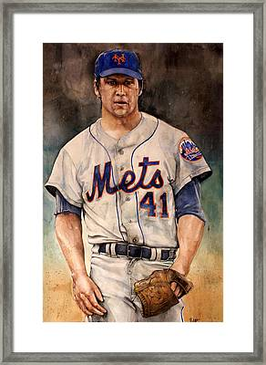 Tom Seaver Framed Print by Michael  Pattison
