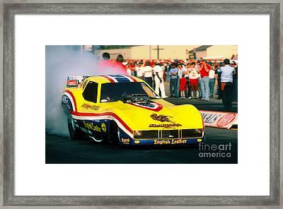 Tom The Mongoose Mc Ewen Corvette Funny Car Framed Print