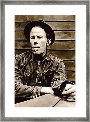 Tom Waits Artwork 2 Framed Print by Sheraz A