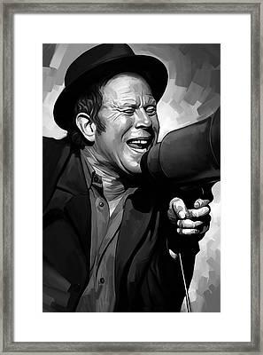 Tom Waits Artwork  3 Framed Print by Sheraz A