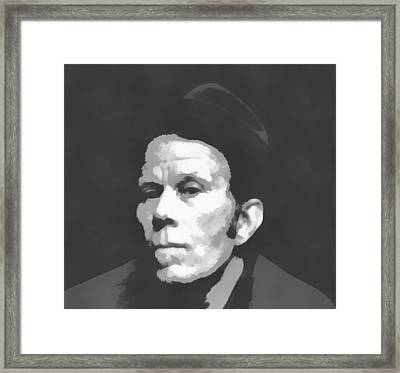 Tom Waits Charcoal Poster Framed Print by Dan Sproul