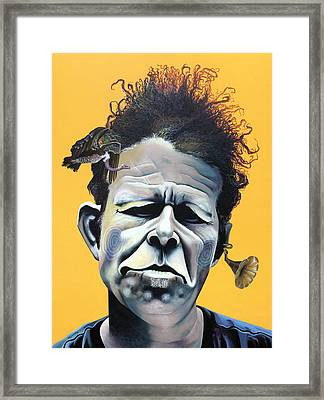 Tom Waits - He's Big In Japan Framed Print by Kelly Jade King