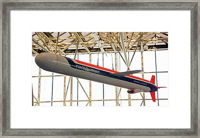 Tomahawk Cruise Missile In A Museum Framed Print by Jim West