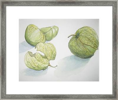Tomatillos Framed Print by Maria Hunt