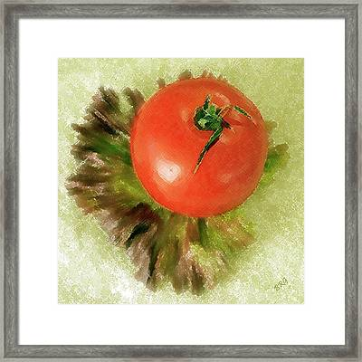 Tomato And Lettuce Framed Print by Ben and Raisa Gertsberg