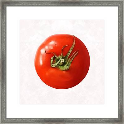 Framed Print featuring the digital art Tomato by David Blank