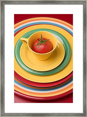 Tomato In A Cup Framed Print