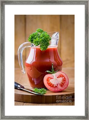 Tomato Juice Framed Print by Amanda Elwell