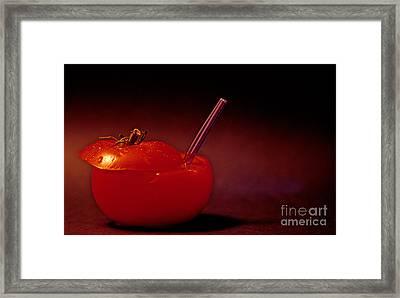 Tomato Juice Framed Print by Sharon Elliott