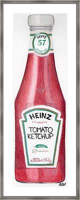 Tomato Ketchup Framed Print by Bav Patel