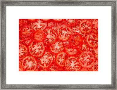Tomato Slices Framed Print