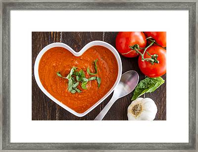 Tomato Soup Love Framed Print by Teri Virbickis