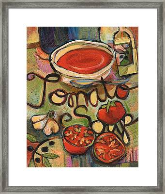 Tomato Soup Recipe Framed Print by Jen Norton