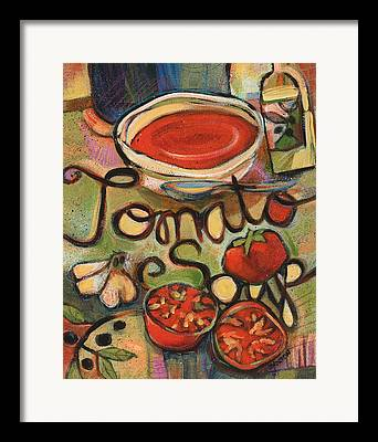 Painted Recipes Framed Prints