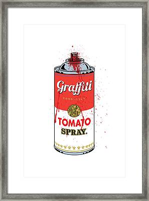 Tomato Spray Can Framed Print