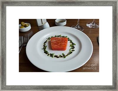 Tomato Terrine Framed Print by Louise Heusinkveld