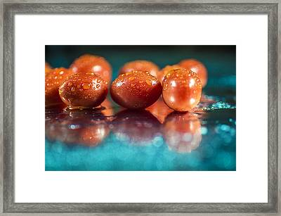 Framed Print featuring the photograph Tomatoes by Arkady Kunysz