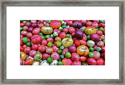 Framed Print featuring the photograph Tomatoes by Bill Owen