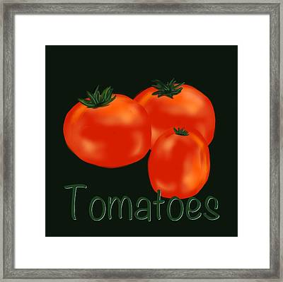 Tomatoes Framed Print by Christine Fournier