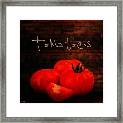 Tomatoes II Framed Print by Lourry Legarde