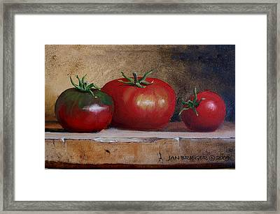 Tomatoes Framed Print by Jan Brieger-Scranton