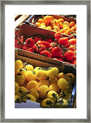 Tomatoes On The Market Framed Print