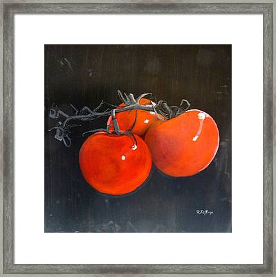 Framed Print featuring the painting Tomatoes by Richard Le Page