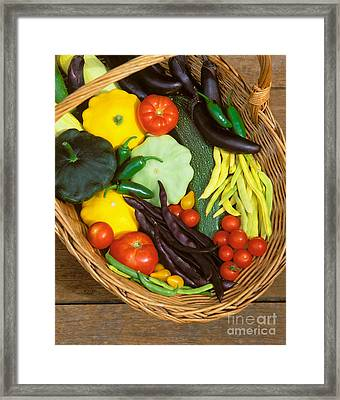 Tomatoes Squash And Beans Framed Print by Craig Lovell