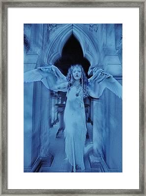 Tomb Guardian  Framed Print by Mayumi Yoshimaru