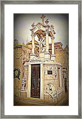 Tomb In Recoleta Cemetary Buenos Aries Framed Print