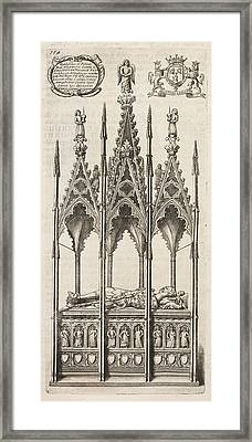 Tomb Of A King Of England Framed Print by British Library
