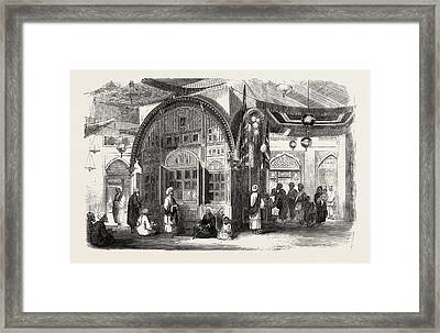 Tomb Of A Mussulman Interior Of The Tomb Of The Father Framed Print