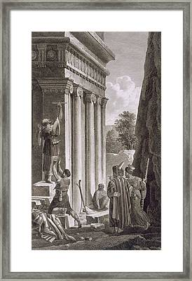 Tomb Of Absalom, Valley Of Jehosophat Framed Print by Louis Francois Cassas