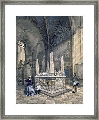 Tomb Of Gustav I In Uppsala Cathedral Framed Print by Karl Johann Billmark