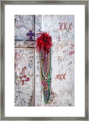 Tomb Of Marie Laveau New Orleans Framed Print