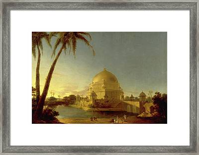 Tomb Of Sher Shah, Sasaram, Bihar Signed In Black Paint Framed Print by Litz Collection