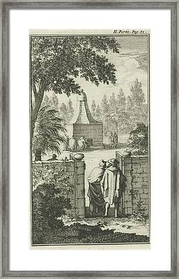 Tomb Of St. George, The Gatekeeper To Damascus Framed Print by Jan Luyken And Charles Angot