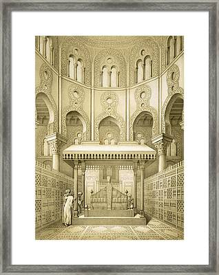 Tomb Of Sultan Qalaoun In Cairo Framed Print by French School