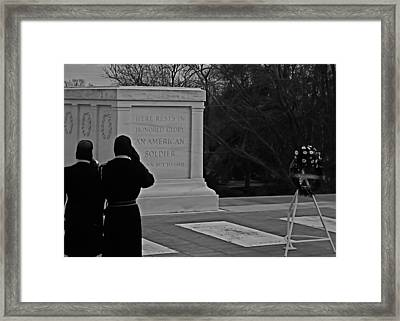 Tomb Of The Unknown Framed Print by DustyFootPhotography