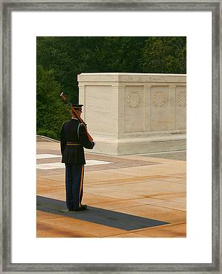 Tomb Of The Unknown Soldier Framed Print by Kim Hojnacki