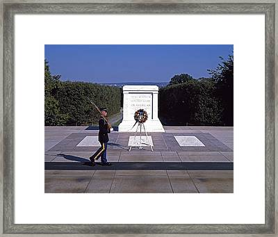 Tomb Of The Unknown Soldier Framed Print by Mountain Dreams
