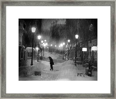 Tombe La Neige... Framed Print