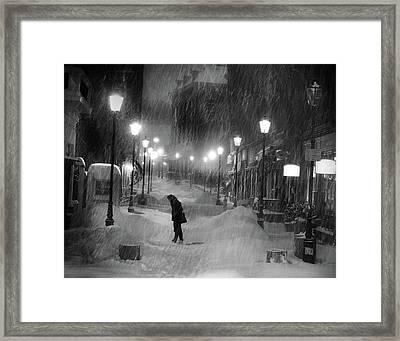 Tombe La Neige... Framed Print