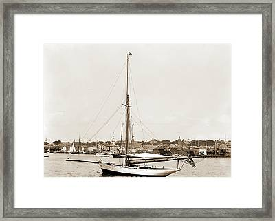 Tomboy, Tomboy Yacht, Harbors, Yachts Framed Print by Litz Collection