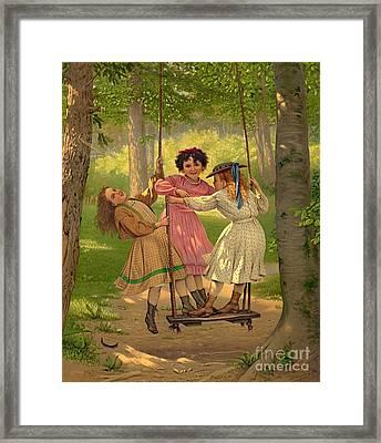 Tomboys 1868 Framed Print by Padre Art