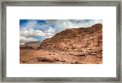 Tombs Of Petra Framed Print by Alexey Stiop
